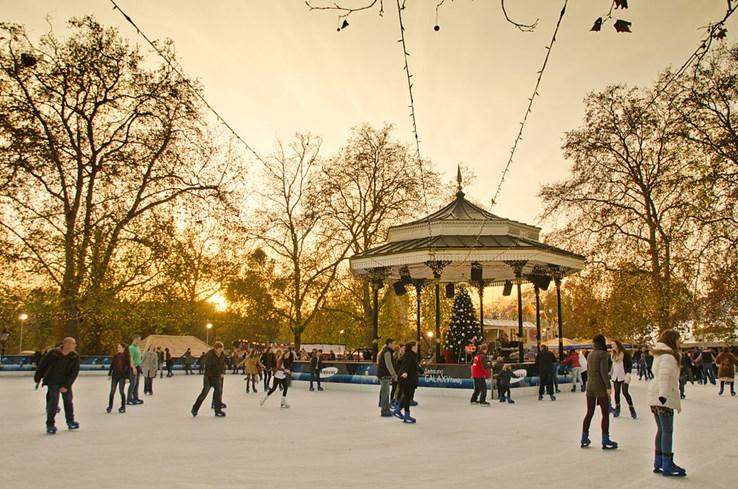 Ice Skating, Hyde Park Winter Wonderland