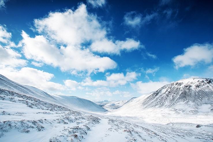 Cairngorm National Park in Winter
