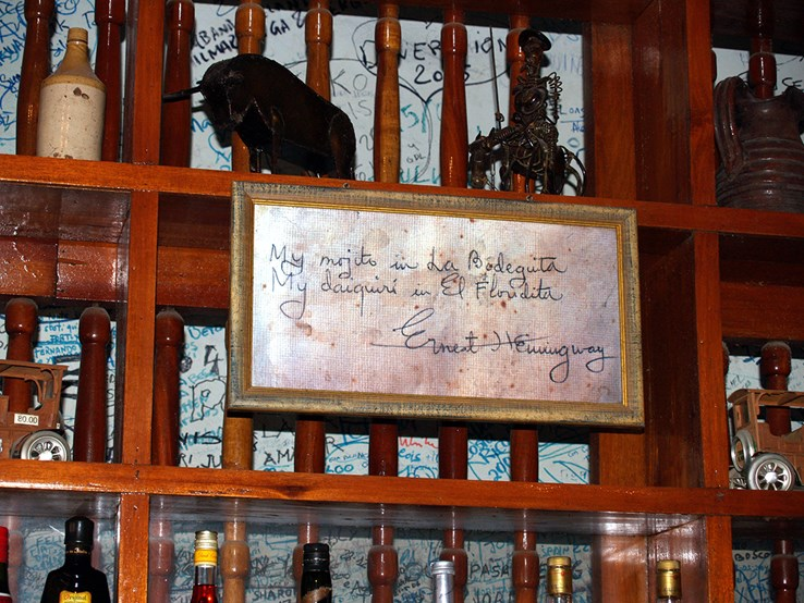 Ernest Hemingway Sign | Bodeguita del Medio Club | Havana