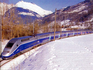 France's TGV service traverses towns in France, Italy and Switzerland.
