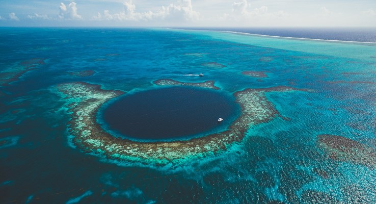 The Great Blue Hole, Belize.