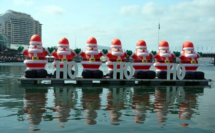 Santa's at Sydney Harbour