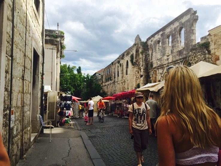 Streets in Split
