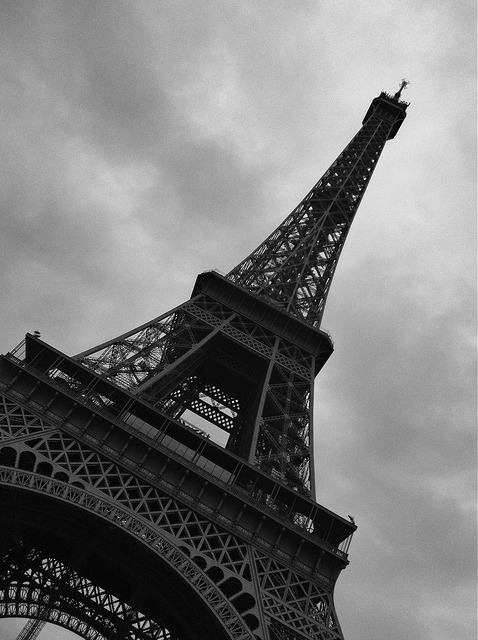 Black & White Eiffel Tower