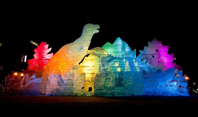 Ice Festival Sculptures