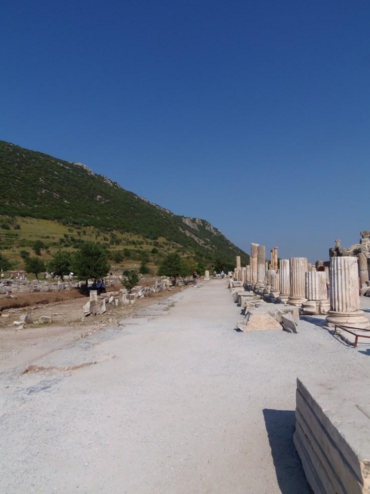 Deserted streets of Ephesus