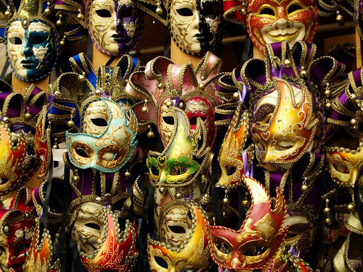 Different Types of Carnival Masks in Venice