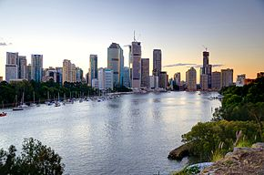 The Brisbane skyline from Kangaroo Point