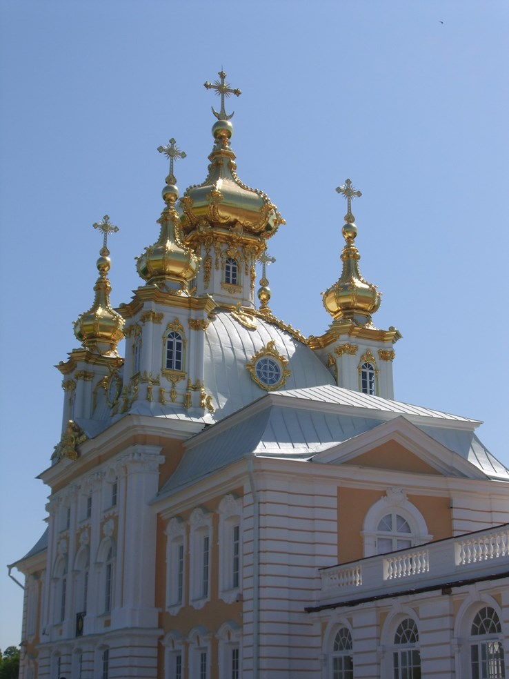 The golden turrets of Catherine's Palace