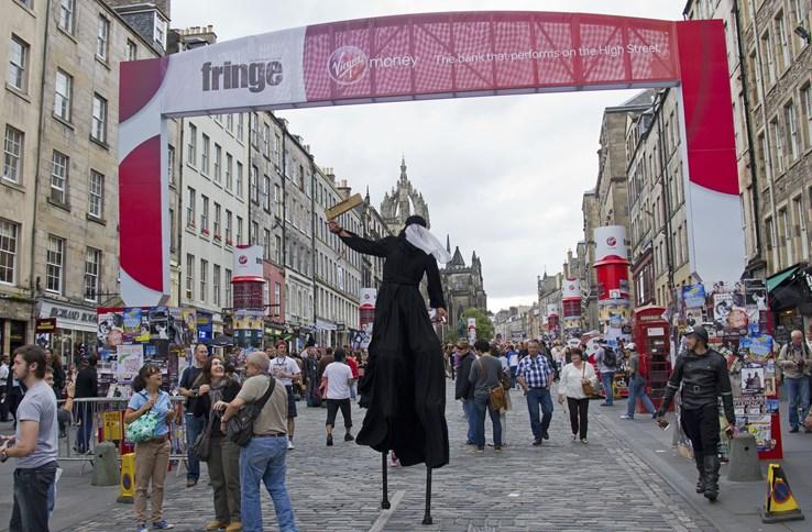 Edinburgh during the Fringe