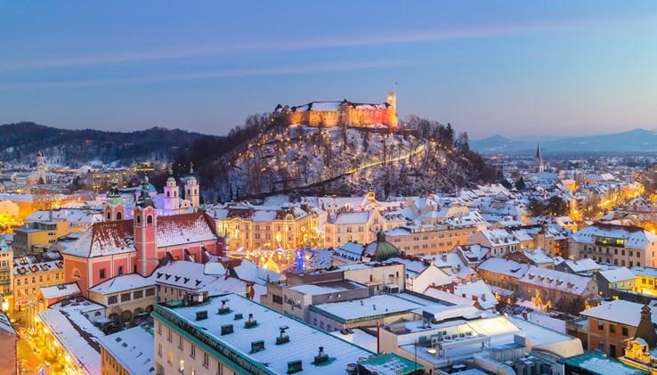 Ljubljana City in Winter | Slovenia