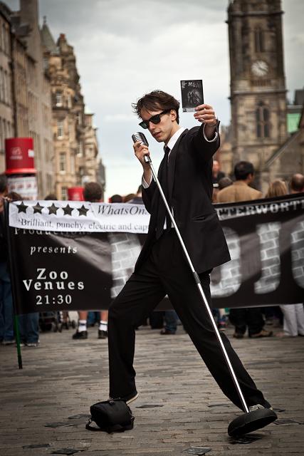 Street Performer at the Edinburgh Fringe Festival