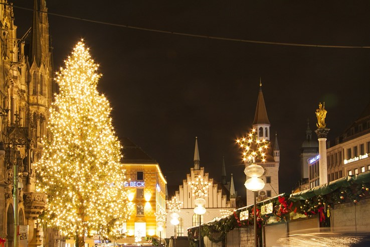 Beautiful Christmas Tree in Marienplatz