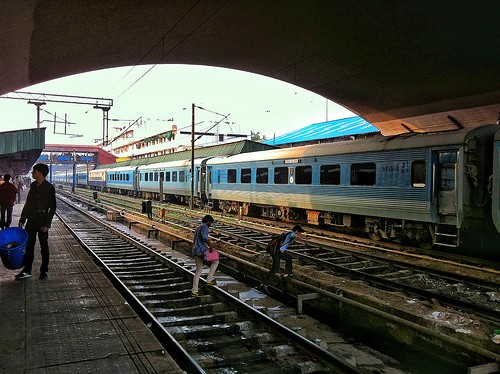 Indian Train Station