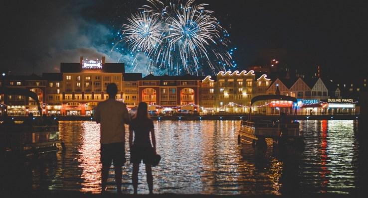 Fireworks Over Disney Boardwalk