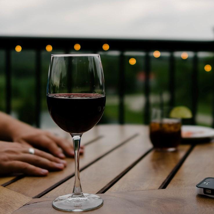 Glass of Rioja