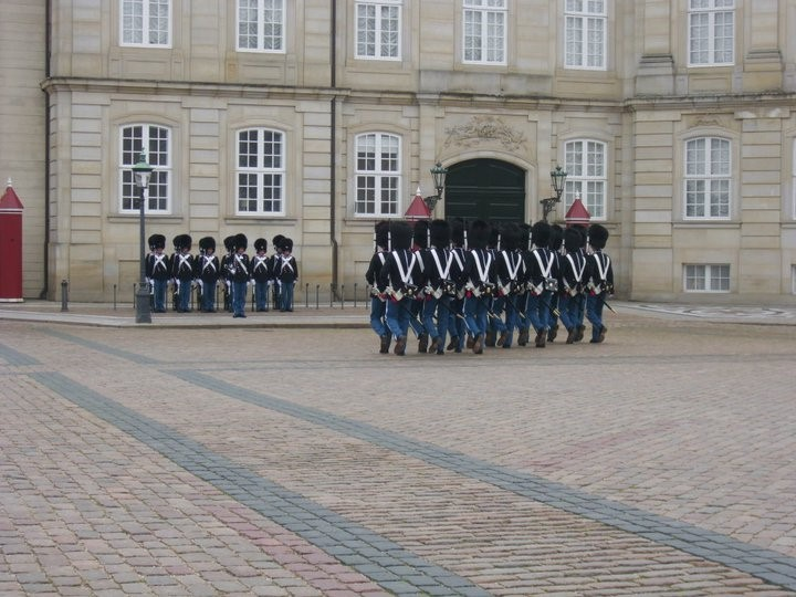The Royal Guard at Amalienborg Palace