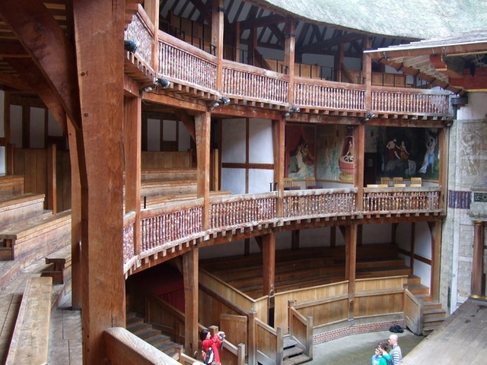 The familiar interior of Shakespeare's Globe - Credit: j a thorpe, flickr