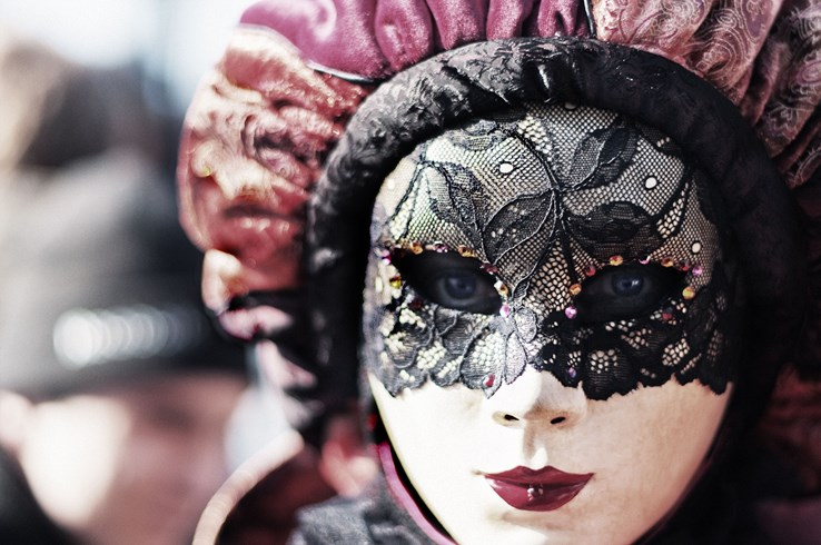 Masked Woman at the Venice Carnival