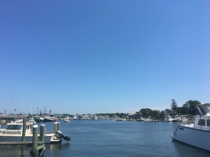 Boats in Hyannis Harbour