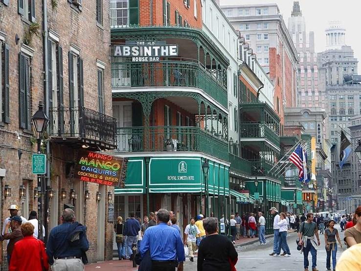 Bourbon Street, New Orleans.