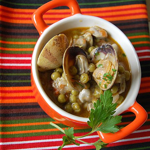 Suquet de peix | fresh legumes & clams stew
