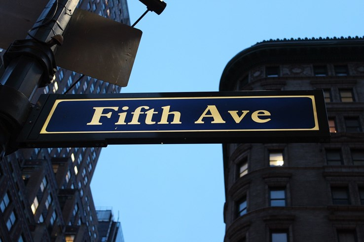 Fifth Avenue Sign - New York City