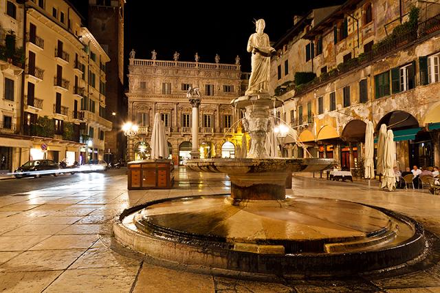Piazza Delle Erbe - Verona - Italy