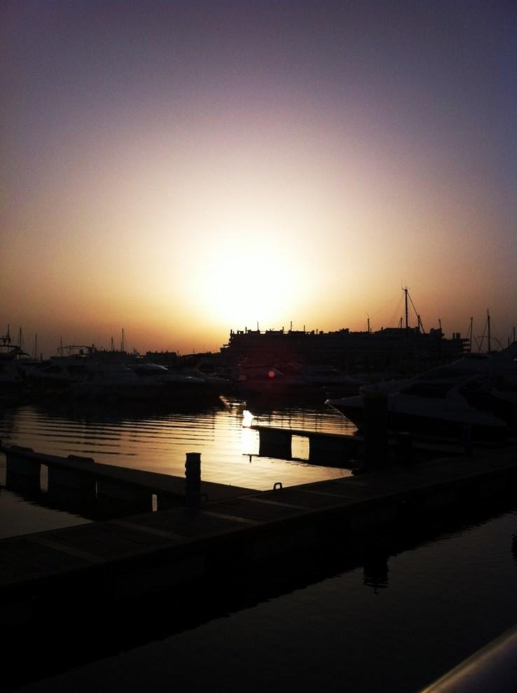 Sunset at Vilamoura Marina