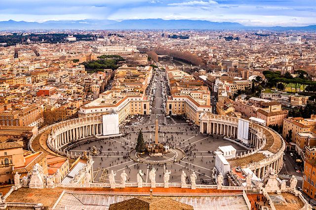 St Peters Square - Rome, Italy