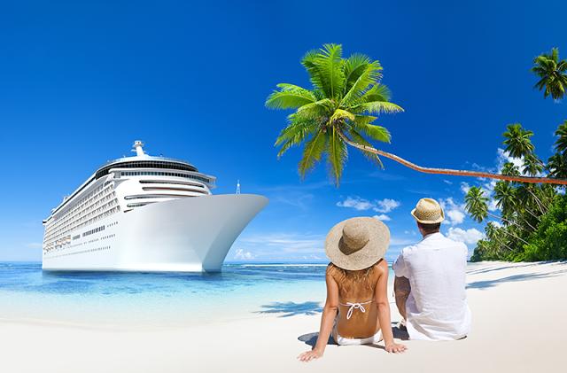 Cruise Ship on a Beach