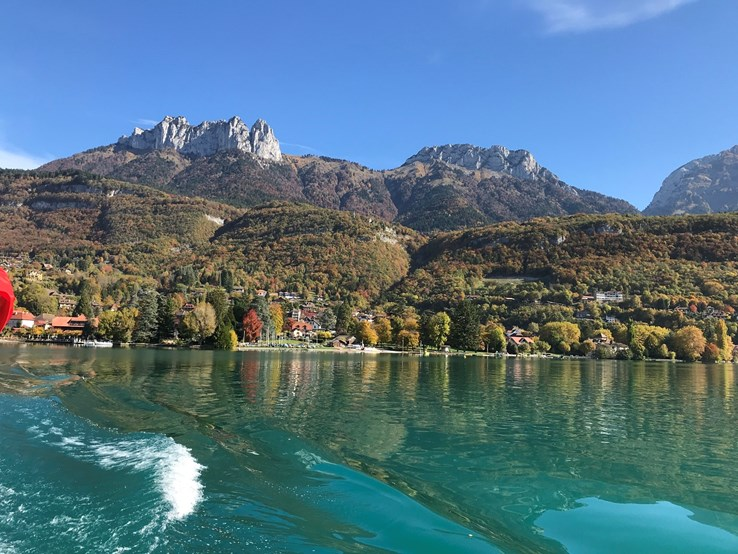 View of the Mountains from Lake Annecy