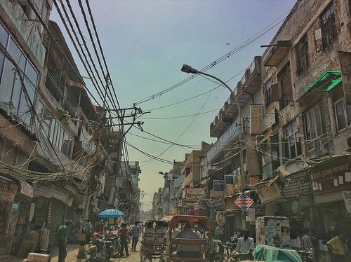 Chaotic Indian Streets
