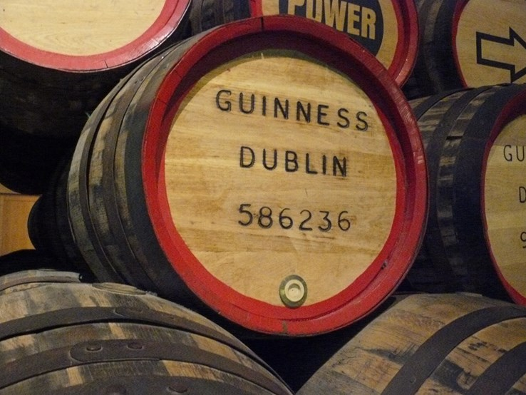 Guinness Barrels - Dublin Guinness Factory