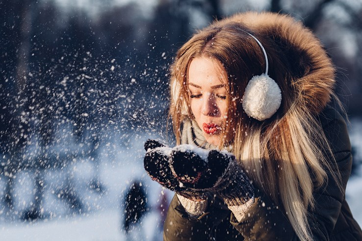Girl in the Winter Snow
