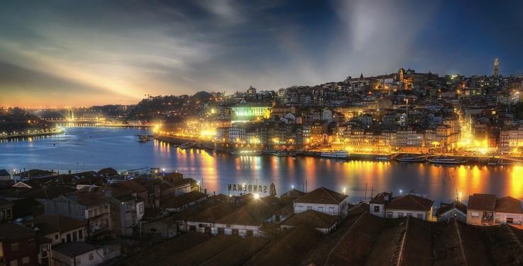 Porto City at Night